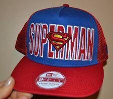 Superman New Era 9Fifty A-Frame Snapback Hat Licensed DC Comics Adult Med Large
