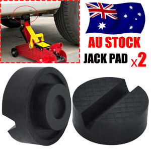 Jack Rubber Pad with Slots for Hydraulic Ramp Jack Trolley Jacking Pad Adapter