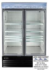 Saba Sm 45rs Merchandiser Refrigerator Display Case 2 Sliding Glass Doors