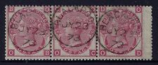 1873 QV 3d ROSE PLATE 10 ROW OF 3 VERY FINE USED JULY23 BLACKPOOL CDS CANCELS