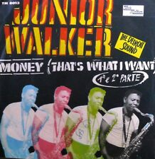 """junior walker & the all stars MONEY ( THAT'S WHAT I WANT ) 7"""" RARE PS ITALY 1971"""