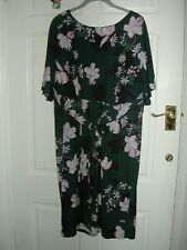 MONSOON LADIES LOVELY SPECIAL OCCASION FLORAL BLUE STRETCHY DRESS SIZE 22