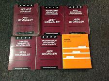 2003 JEEP WRANGLER Service Shop Repair Manual Set W Diagnostics + Recalls OEM