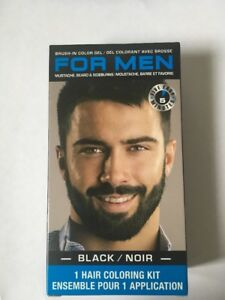 Men Brush In Mustache Beard Hair Sideburns Color Compare To Just For Men Black