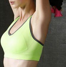UK Women Style Super Comfort High Impact Breathable Running Gym Sports Bra Orange L