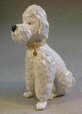 Pudel Porzellan Figur Tier Hund Königspudel naturgetreu um 1958