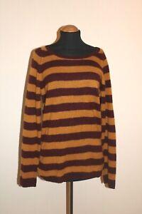 N PEAL Beautiful soft 100% cashmere striped jumper size L 42'' chest