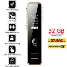 Digital Diktiergerät Tragbar Aufnahmegerät Audio Sound Voice Recorder MP3 up 32G