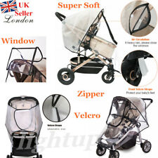 Super Soft Baby Stroller Pushchair Rain Cover Pram Buggy Zip Velcro Breatherable