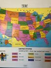Pull Down School Map of the State of Georgia 1 Layer. Vintage, Salvage,Antique.