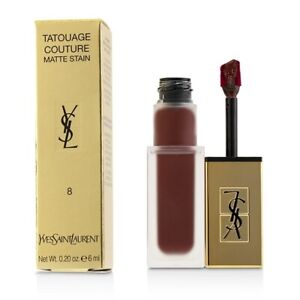 Yves Saint Laurent Tatouage Couture Matte Stain - # 8 Black Red Code 6ml Womens