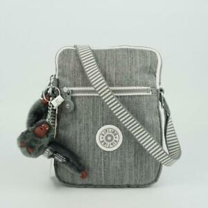 KIPLING ESSYLA Small Shoulder Crossbody Bag Striped Web Grey