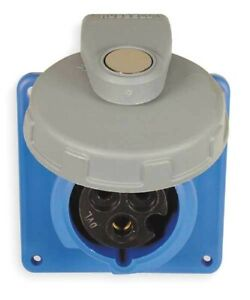 HUBBELL WIRING DEVICE-KELLEMS HBL320R6W IEC Pin and Sleeve Receptacle,20A,250V