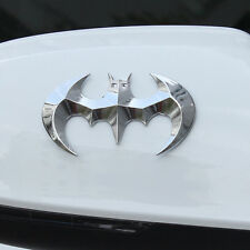 1* Off Road For SUV Auto Tailgate 100% Metal Silver Batman Sticker Emblem Badge