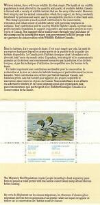 Kanada +Wildlife Habitat Conservation Stamp+ 1988 ** Postfrisch