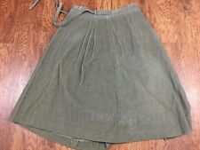 Vintage LL Bean Brown Knee Length Corduroy Pockets Wrap Skirt Medium USA Made