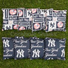 ALL WEATHER Resin Washable Cornhole Bean Bags ACA Regulation NY New York Yankees