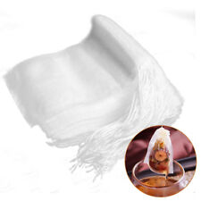 new 100x Reusable Tea Filter Bags Disposable Drawstring Paper Bag for Loose Leaf