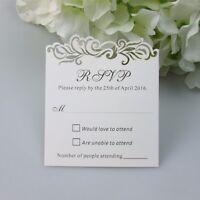 Personalized Luxury Damask Wedding Invitation RSVP cards,Wish Well Cards