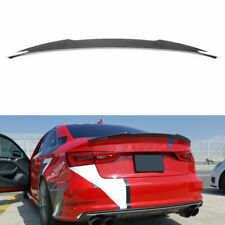 Fits Audi A3 S3 RS3 Sedan Rear Trunk Spoiler Lid Boot Wing Carbon Fiber 14-19