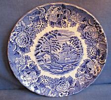 Enoch Woods Untertasse 16,6cm, English Scenery blau, weitere Keramik