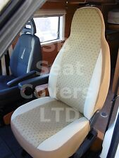 TO FIT A HYMER MOTORHOME, 2000, SEAT COVERS, KASHMIR GOLD, 2 FRONTS