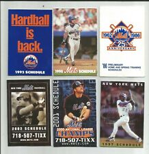 New York Mets  Pocket Schedule Collection (6) 1986 - 2002
