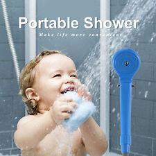 12V Portable Automobile Shower Set Water Pump Travel Trip Camp Car Caravan Blue