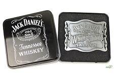 Jack Daniel's Old No.7 Gürtelschnalle mit Jack Daniels Belt Buckle Geschenkbox