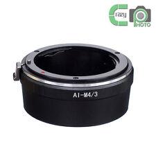 AI-M4/3 Adapter for Nikon F Lens to Micro Four Thirds M4/3 PL1 P2 GF1 Panasonic