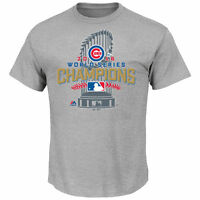 NEW/TAGS Men's Chicago Cubs Majestic Heathered Gray 2016 World Series Champion