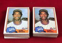 Lot of 100 Cards 1981 Topps Traded Hubie Brooks Rookie Baseball Card # 742  RG1