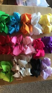 """40 Colors 3"""" Hair Bows Girls Alligator Clips Toddlers Pigtail Bows Clip 40 Piece"""