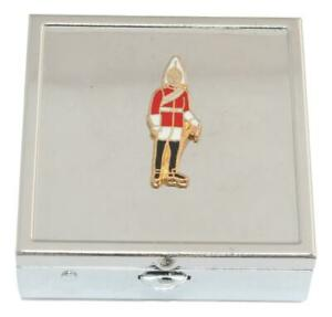 Life Guards Square Pill Trinket Box Chrome with Mirror Gift 221