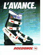 PUBLICITE ADVERTISING 017  1990  chaussures de ski Rossignol  R900