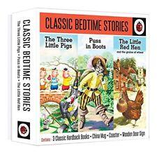 Ladybird Classic Bedtime Stories Gift Set 3 Story Books Mug Coaster Door Sign