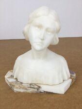 Jugendstil Alabaster Marmor Frauen Büste Figur Skulptur Antik French Frankreich