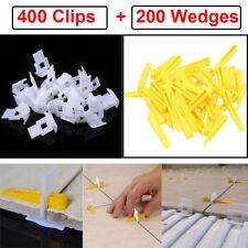 Ceramic Leveling System 1000 Clips+400 Wedges Tile Leveler Spacers Lippage