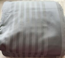 HOTEL COLLECTION GREY SILVER STRIPE FULL / QUEEN DUVET COVER NOOP