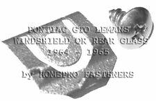 64 65 PONTIAC GTO LEMANS REAR GLASS WINDSHIELD REVEAL MLDG CLIPS 20