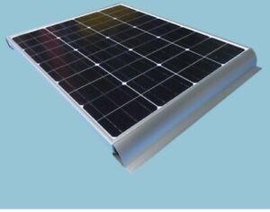 Set of 2 Solar panel mounting brackets Spoiler Motorhome caravan boat flat roof.