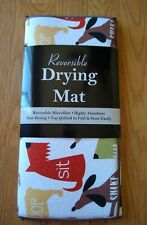 RITZ Reversible Dish Drying Mat Dogs Microfiber Kitchen NEW NIP