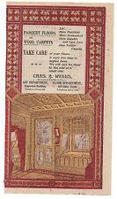 1890s Advertisement C. Wells Parquet Floors Wood Carpets San Francisco CA