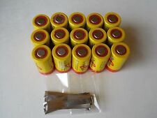 15 Tenergy SC 20300 NiCd SubC 2200 mAh Batteries with 15 Pure Nickel solder Tabs