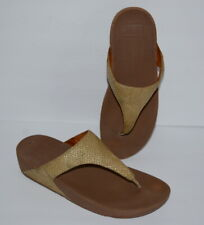 FITFLOP LULU GOLD FLIP FLOP SANDALS WOMEN SZ 11 *GUC