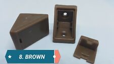 BROWN PLASTIC CORNER CONNECTING SHELVING BRACKETS FIXING SHELF SUPPORT