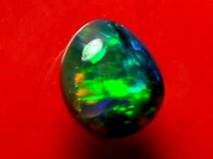 Bright Rolling Pretty Dark Colour Pattern Natural Solid Black Opal 1.61carat.