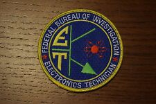 Federal Bureau of Investigation FBI Electronics Technician Patch