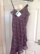 BNWT AVON Black & Pink Lacey Dress with Black Rose Size 10-12
