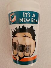 "MIAMI DOLPHINS.  ""IT'S A NEW ERA""  JIMMY JOHNSON  PLASTIC CUP"